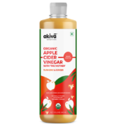 Ginger & Turmeric Infused Apple Cider Vinegar By Akiva – 500ml